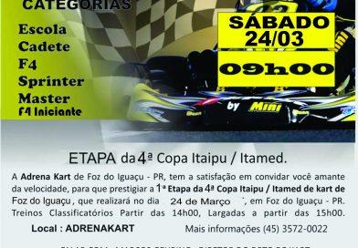 Foz do Iguaçu terá 1ª etapa do Citadino de Kart neste sábado