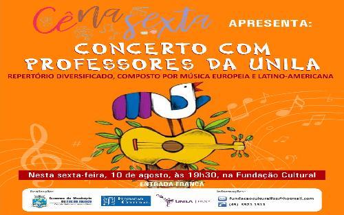 """""""Cê na Sexta"""" apresenta concerto com professores da UNILA"""